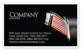 American Armed Forces Business Card Template, 04026, Military — PoweredTemplate.com