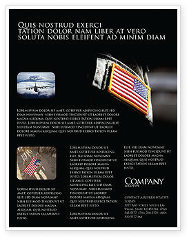 American Armed Forces Flyer Template, 04026, Military — PoweredTemplate.com