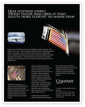 Military: Modelo de Folheto - forças armadas americanas #04026