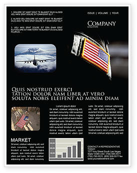 Military: American Armed Forces Newsletter Template #04026