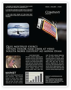 Military: Amerikanische streitkräfte Newsletter Vorlage #04026