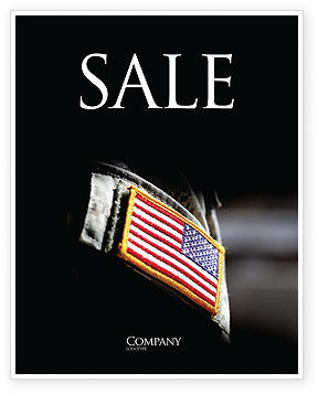 Military: American Armed Forces Sale Poster Template #04026
