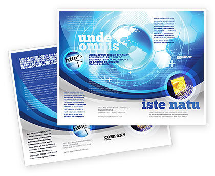 Communication Media Brochure Template