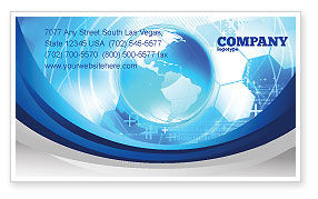 Global: Communication Media Business Card Template #04028