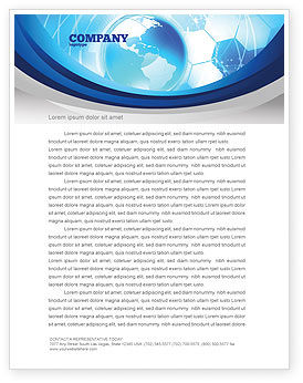 Communication Media Letterhead Template, 04028, Global — PoweredTemplate.com
