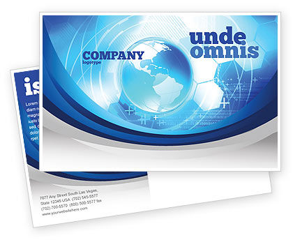 Communication Media Postcard Template, 04028, Global — PoweredTemplate.com