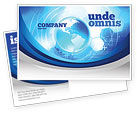 Global: Communication Media Postcard Template #04028