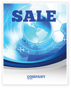 Communication Media Sale Poster Template