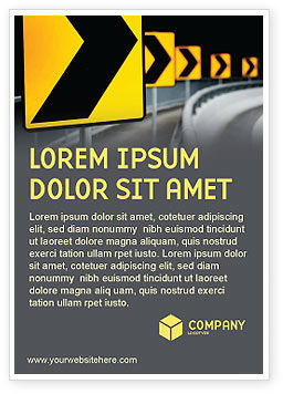Road Reflector Ad Template, 04032, Construction — PoweredTemplate.com
