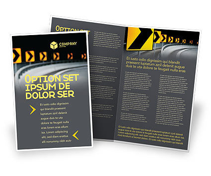 Construction: Road Reflector Brochure Template #04032
