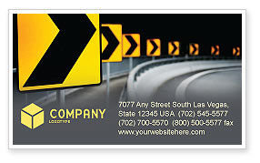 Construction: Road Reflector Business Card Template #04032