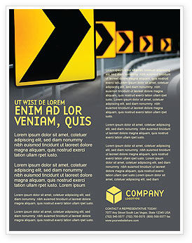 Construction: Road Reflector Flyer Template #04032