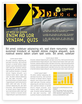 Construction: Road Reflector Newsletter Template #04032