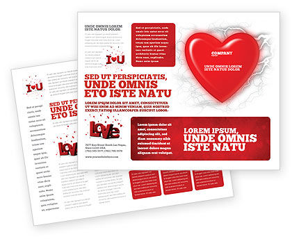 Romantic Emotion Brochure Template, 04033, Holiday/Special Occasion — PoweredTemplate.com