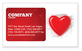 Romantic Emotion Business Card Template