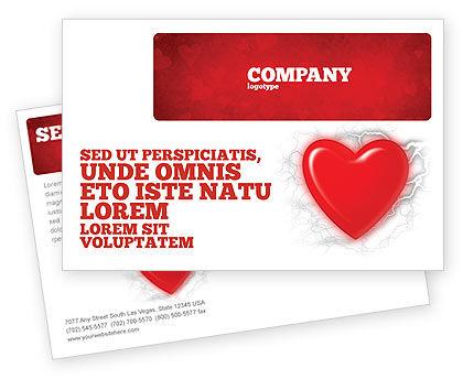 Holiday/Special Occasion: Modèle de Carte postale de émotion romantique #04033