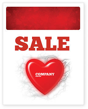 Romantic Emotion Sale Poster Template, 04033, Holiday/Special Occasion — PoweredTemplate.com