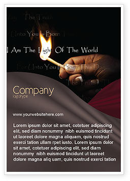 Religious/Spiritual: I Am The Light Of The World Ad Template #04034