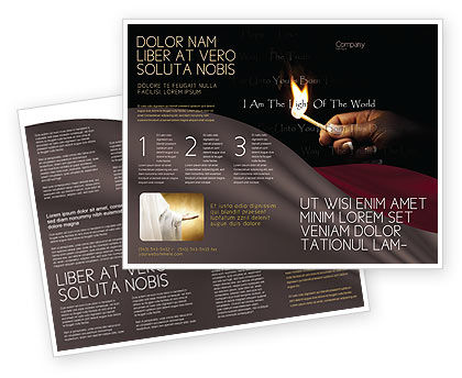 I Am The Light Of The World Brochure Template, 04034, Religious/Spiritual — PoweredTemplate.com