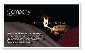 Religious/Spiritual: I Am The Light Of The World Business Card Template #04034