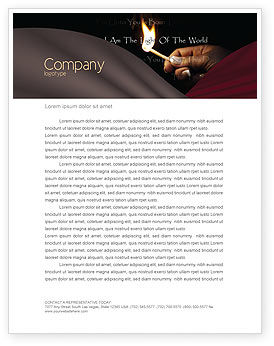 I Am The Light Of The World Letterhead Template, 04034, Religious/Spiritual — PoweredTemplate.com