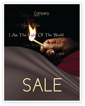 Religious/Spiritual: I Am The Light Of The World Sale Poster Template #04034