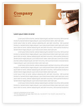 Help Key Letterhead Template, 04037, Consulting — PoweredTemplate.com
