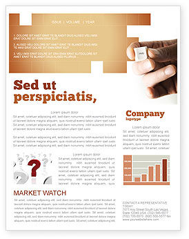 Consulting: Help Key Newsletter Template #04037