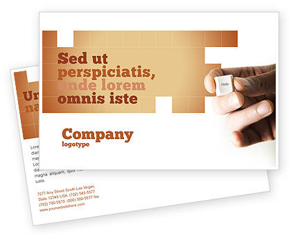 Help Key Postcard Template