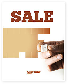 Consulting: Help Key Sale Poster Template #04037