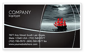 Careers/Industry: Scarlet Sails Business Card Template #04038