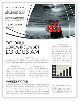 Careers/Industry: Scarlet Sails Newsletter Template #04038