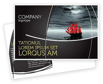 Scarlet Sails Postcard Template