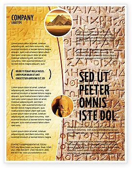 Greek Script Flyer Template, 04044, Technology, Science & Computers — PoweredTemplate.com