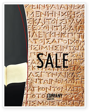 Greek Script Sale Poster Template