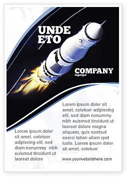 Technology, Science & Computers: Space Ship Ad Template #04051