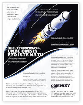 Technology, Science & Computers: Space Ship Flyer Template #04051