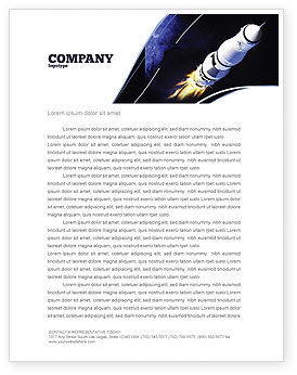 Technology, Science & Computers: Space Ship Letterhead Template #04051
