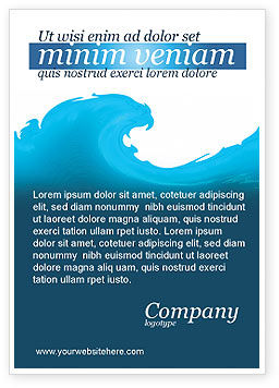 Abstract/Textures: Wave Ad Template #04052
