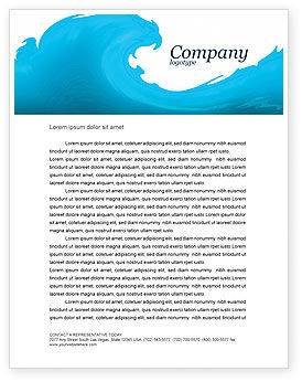 Wave Letterhead Template, 04052, Abstract/Textures — PoweredTemplate.com