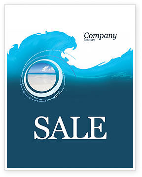 Abstract/Textures: Wave Sale Poster Template #04052