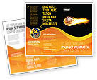 Sports: Flaming Basketball Brochure Template #04054