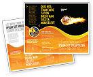 Sports: Templat Brosur Bola Basket Flaming #04054