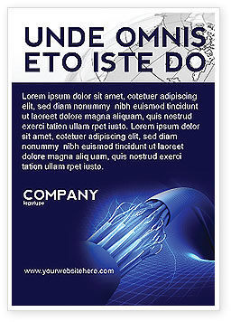 Multifilament Wire Ad Template, 04055, Telecommunication — PoweredTemplate.com