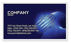 Multifilament Wire Business Card Template, 04055, Telecommunication — PoweredTemplate.com