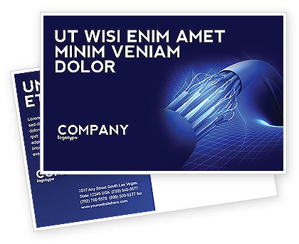 Telecommunication: Multifilament Wire Postcard Template #04055