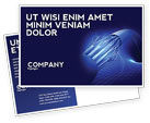 Telecommunication: Multifilament Wire Postcard Template #04055