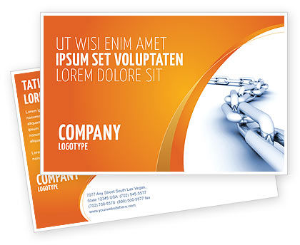 Business Concepts: Chain Postcard Template #04056