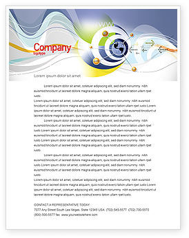 Communication Network Letterhead Template, 04058, Telecommunication — PoweredTemplate.com