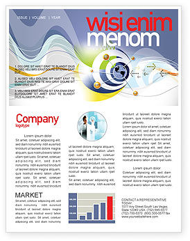 Communication Network Newsletter Template, 04058, Telecommunication — PoweredTemplate.com